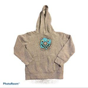 Volcom boys size 4 gray donut hoodie